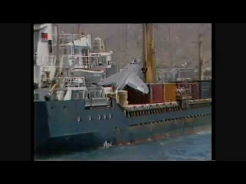 Emergency Landing on Cargo Ship by Sea Harrier