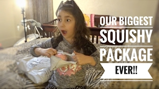 OUR BIGGEST SQUISHY PACKAGE EVER!!!