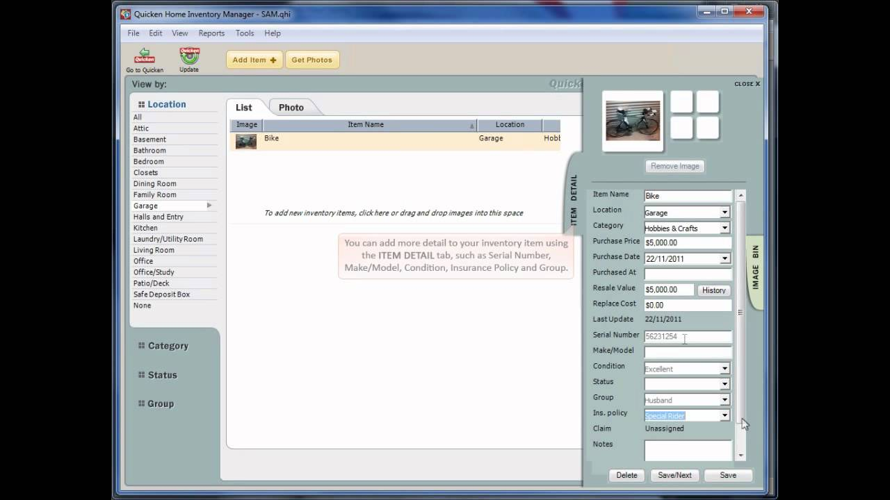 Quicken Home Inventory Manager - Demonstration.mp4 - YouTube