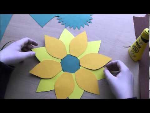 Eine Tolle Blume Basteln - Bastelanleitung - Youtube