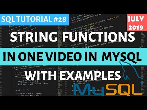 MySQL #28: String Functions In SQL In One Video Hindi | CONCAT() REPLACE() REVERSE() UPPER() ETC..