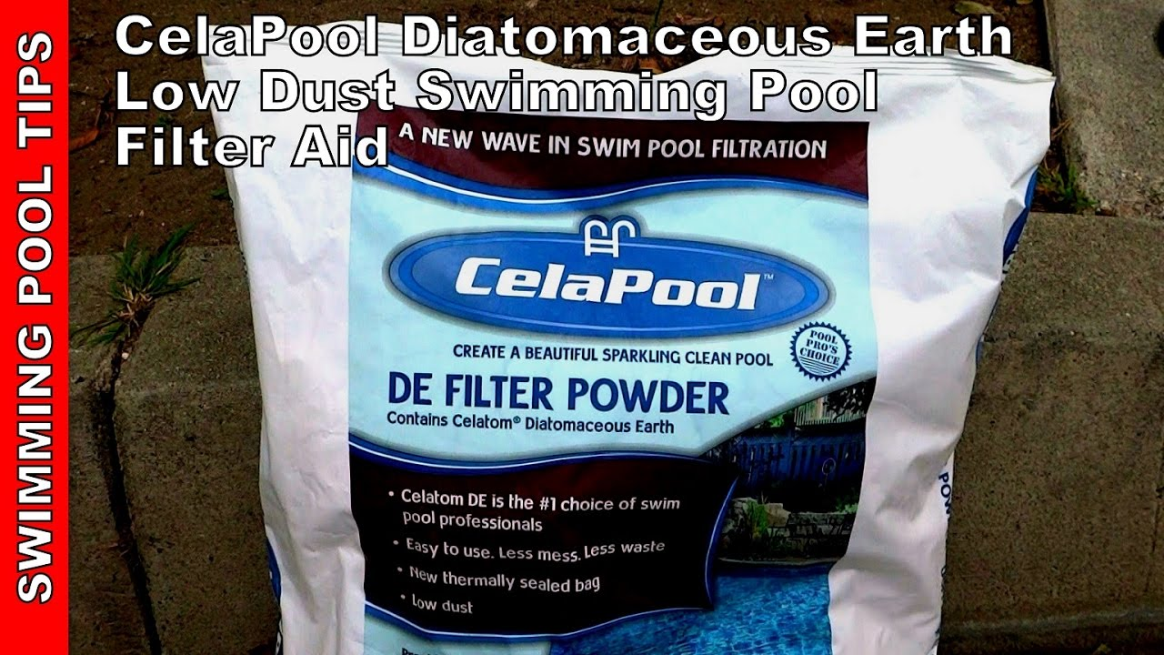 Celapool Diatomaceous Earth Low Dust Swim Pool Filter Aid Youtube