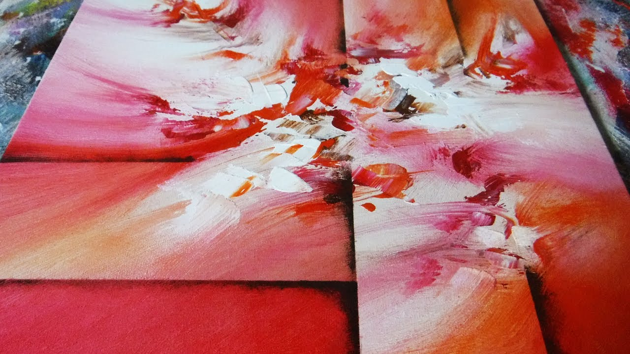 Abstract Painting Demo 19 Blending Acrylics Easy