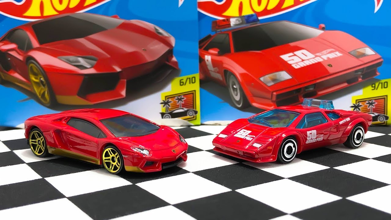 Hot Wheels Lamborghini Aventador Miura Homage And Countach