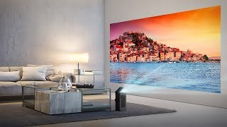 LG HU80KA 4K laser projector has a higher resolution than typical projectors