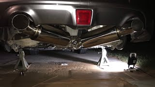 isr performance street dual exhaust for