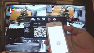 วิธีกำหนดค่าเครื่องบันทึกเพื่อดูออนไลน์ผ่านมือถือ กล้องวงจรปิดไร้สาย Pixels WiFi Kits