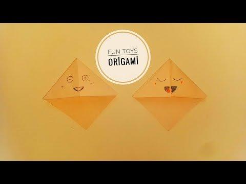 Kawaii BOOKMARKS , Kawaii Kitap Ayracı  , DIY , How to make origami ,  Playground Slide , Origami