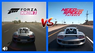 Forza Horizon 3 Vs NFS PayBack Porsche 918 Spyder Sound Comparison