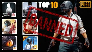 Top 10 BANNED GAMES ON ANDROID JUST LIKE PUBG YOU NEED TO KNOW