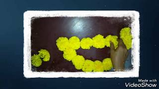 How to decorate Flower Rangoli/DIY Flower Rangoli/Diya Flower Rangoli/Flower Rangoli/Maya Creations