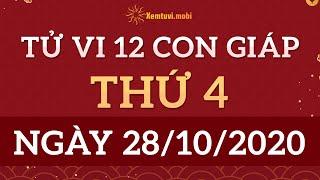 Tử vi 12 Con Giáp 28/10/2020 - Xem Tử Vi 12 Con Giáp ngày 28 tháng 10 năm 2020 | Xemtuvi.mobi