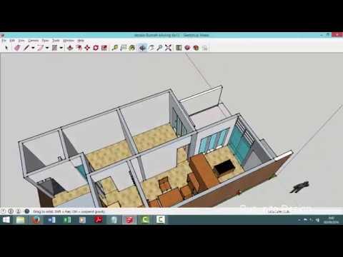 Desain Rumah Modern Minimalis kavling 6x12 meter Taman