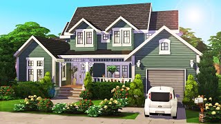 Large 4 Sim Family Home 💚 || The Sims 4: Speed Build