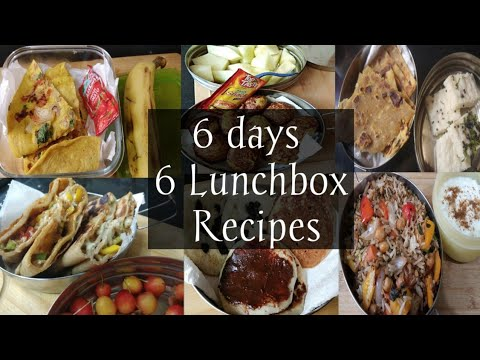 6 Indian Lunch Box Ideas | Kids Lunch Box Recipes Kids Tiffin Healthy Lunch Box Ideas For Kids||