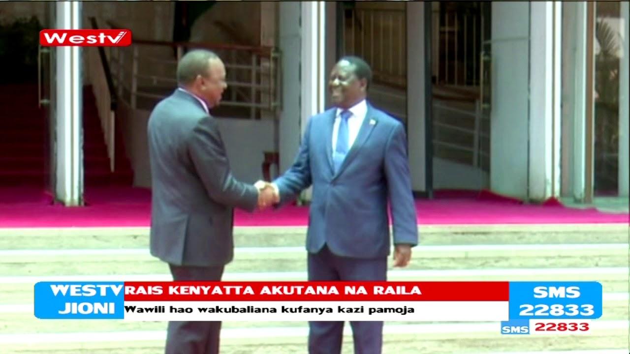 Rais Uhuru Kenyatta akutana ana kwa ana na Raila Odinga