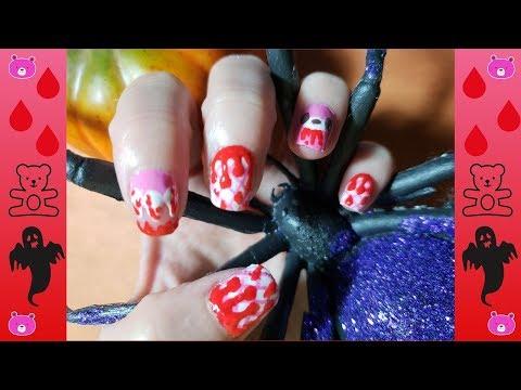 Diy Halloween Gloomy Bear Nail Art Tutorial