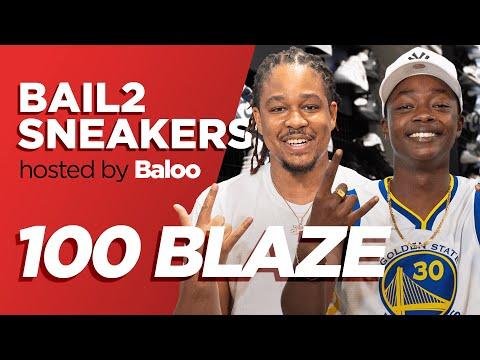 Youtube: 100 BLAZE – Bail 2 Sneakers