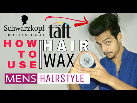 How To Use Taft Hair wax | HINDI | Hair Wax Full Review | In