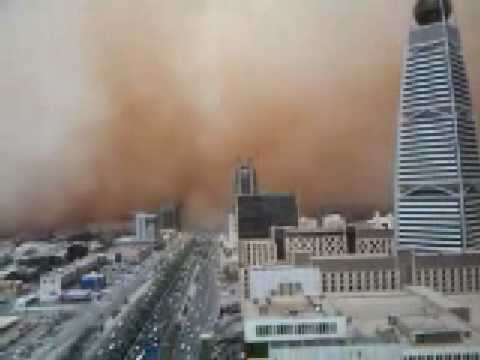 WORST SAND STORM IN SAUDI ARABIA