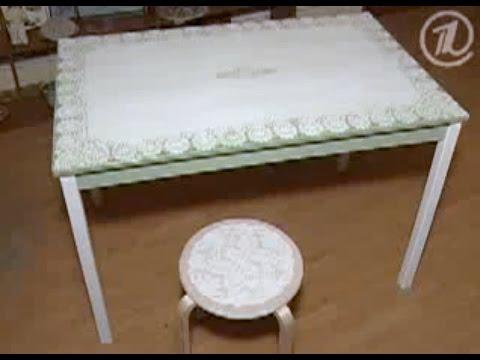 имитация кружевной скатерти на столе