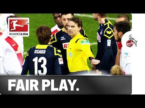Great Fair-Play Gesture from Köln's Japanese Star Yuya Osako