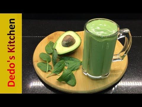 Avocado Spinach Smoothie ( Vegan & Healthy Recipe )