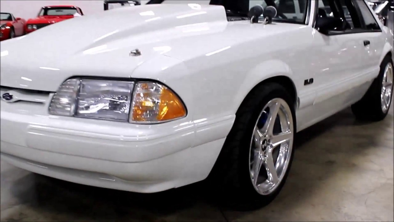 1991 Ford Mustang White Youtube