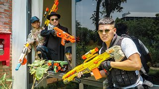 LTT Game Nerf War : Special Police Warriors SEAL X Nerf Guns Fight Braum Gold Button Hunter