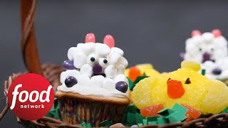 How to Decorate Little Lamb and Chick Cupcakes   Food Network