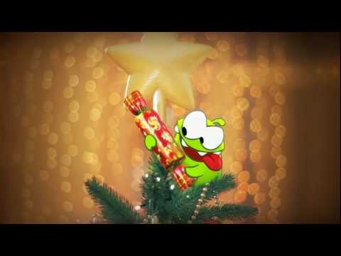 Holiday Greetings from Om Nom! (Cut the Rope)