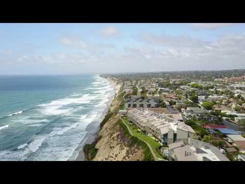 Encinitas Surf - Flying above the Coast in California