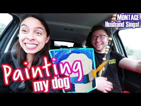 Painting Dog Montage   Humane Heroes Fundraiser   Husband SINGS!