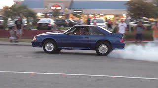 Mustang Week 2015 - Thursday Pullouts! Cars get sideways!