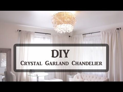 Diy crystal garland chandelier youtube diy crystal garland chandelier aloadofball Gallery