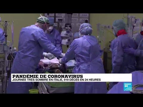Coronavirus en Italie: 919 décès en 24h, un record depuis le début de l'épidémie