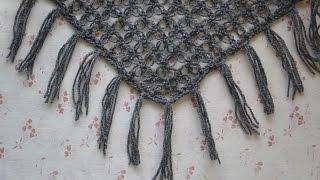 Как сделать бахрому для шали, шарфа • Урок вязания • Пошаговый мастер-класс