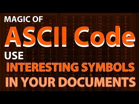 How To Use ASCII Code To Create Interesting Symbols ? | Use Of Alt Key With ASCII Code.