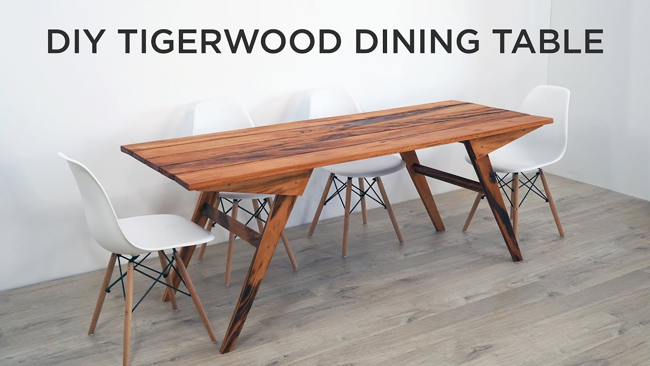 diy outdoor dining table made out of tigerwood youtube