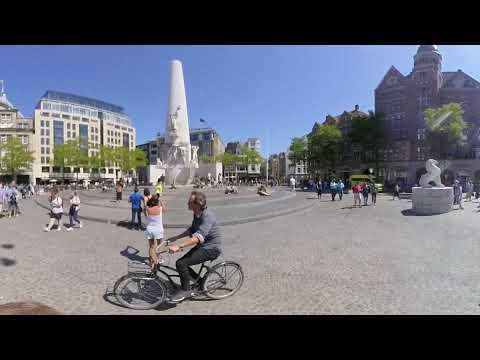 360 Walking around Amsterdam Royal Palace Dam Square
