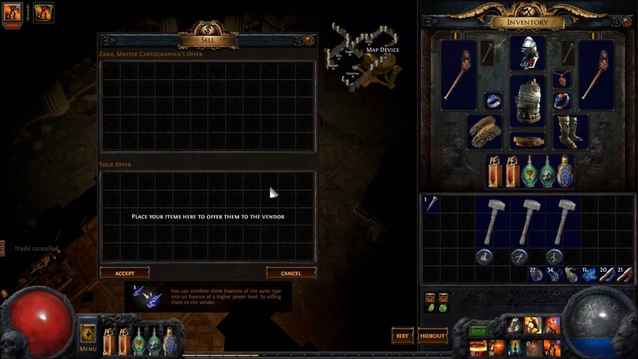 How To Poe Ep6 Cartographers Chisel Recipe Youtube