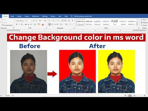 Remove Image Background in Ms word || Change Background Color || Ms word Tutorial ||