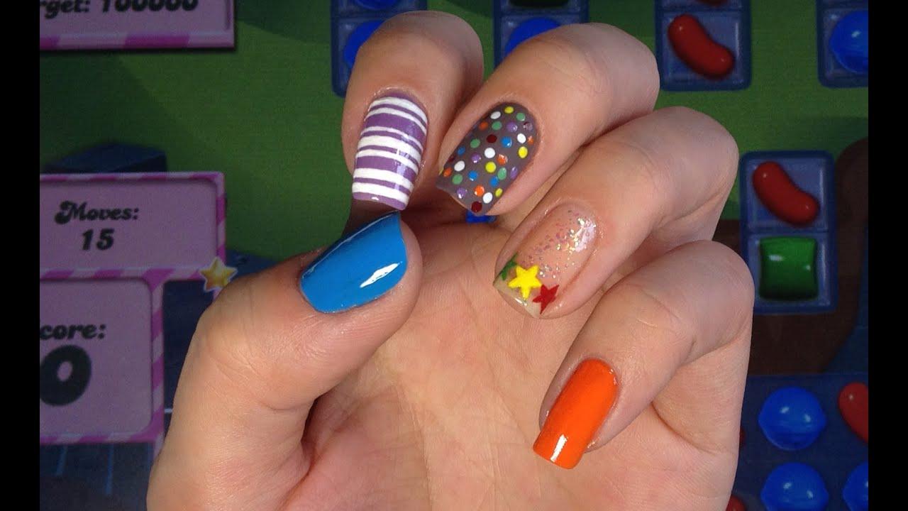 Beautyandtheblog Kukuku Candy Crush Nail Art Youtube