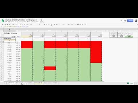 Employee Scheduling Template In Excel Or Google Sheets Youtube