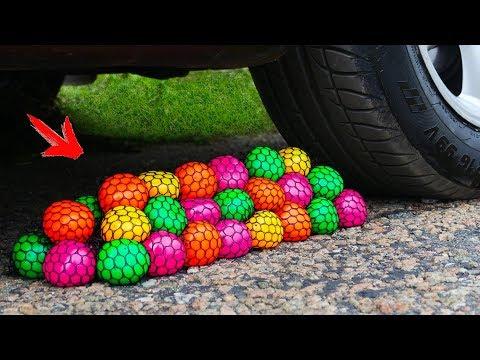 Crushing Crunchy & Soft Things by Car! - A lot of Antistress toys vs Car