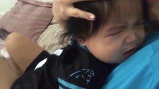 Comforting a sick grumpy baby