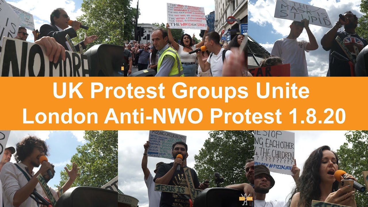 """We are the Power"" Protest groups Unite in London at the UK's largest Anti-New World Order Protest"