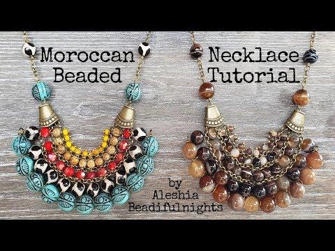 Moroccan Beaded Necklace Tutorial