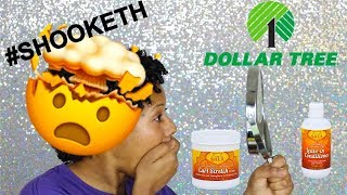 Trying Dollar Tree Hair Products