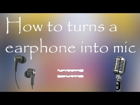 how to use earphone as a microphone in pc